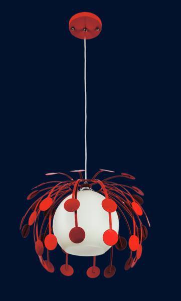 Люстра подвесная красного цвета 7073009-1 КРАСНЫЙ