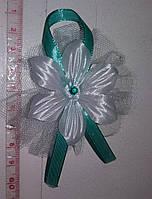 Свадебные цветочки для гостей (цвет - мятный) Ц-г-3-мят-1