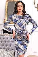 Стильное повседневное платье из французского трикотажа 90259