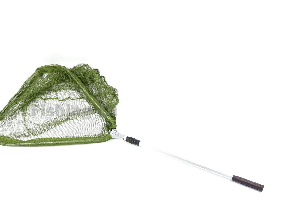 Подсак 1,8м металл. заклепка (треугольник мелкая зеленая сетка)