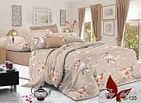 Комплект постельного белья из сатина семейный S-120