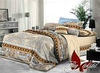 Комплект постельного белья из сатина семейный с компаньоном S-125