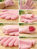 Gel Spa Gloves.(Гелевые увлажняющие перчатки) Розовые , фото 5