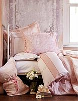 Набор постельное белье с покрывалом и плед Karaca Home - Timeless best pudra