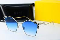 Солнцезащитные очки Fendi синие , фото 1