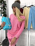 Костюм вязка свитер+штаны фабричный Китай 42-44