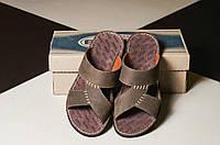 Мужские кожаные шлепки Bonis код Y10667