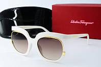 Солнцезащитные очки квадратные Ferragamo белые