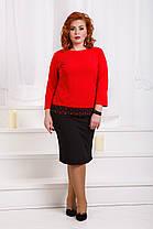 ДР1560 Костюм элегантный кофта+юбка размеры 48-56, фото 2