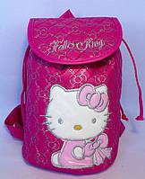 """Рюкзак детский для девочки """"Hello Kitty"""" малинового цвета"""