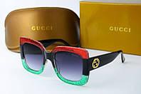 Солнцезащитные очки квадратные Gucci трехцветные, фото 1