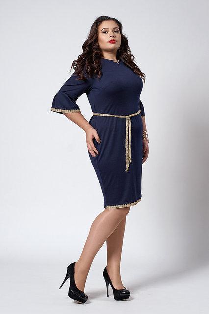Стильное женское платье трикотаж