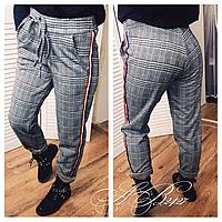 Женские тёплые трикотажные брюки