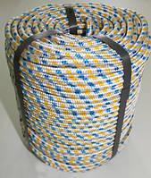 Фал полипропиленовый Ø 8 мм плетеный с сердечником (верёвка)