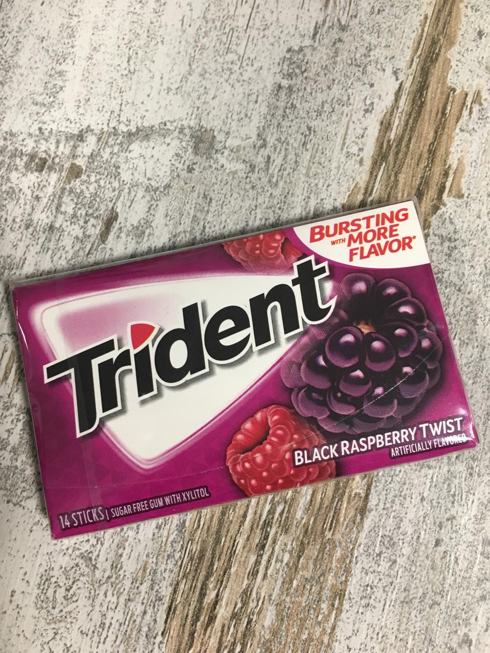 Жвачка TRIDENT black raspberry twist