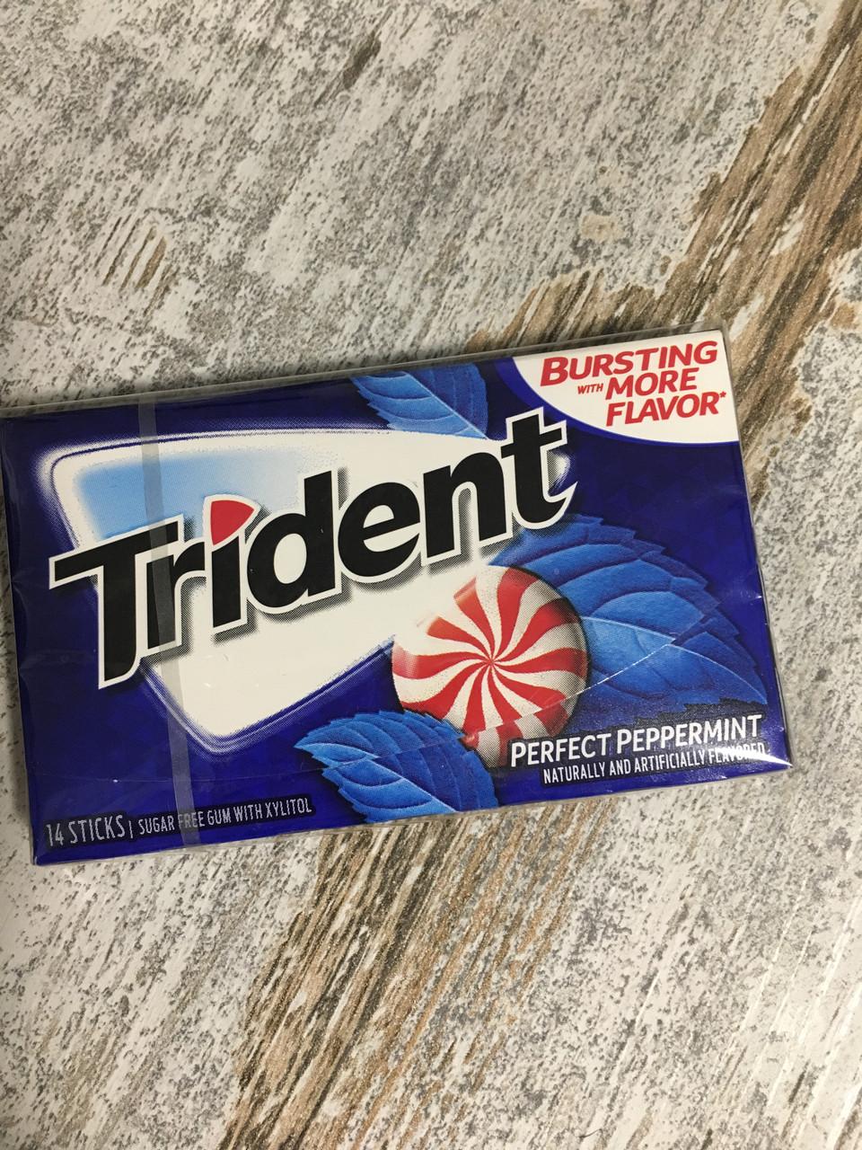Жевательная резинка TRIDENT perfect peppermint