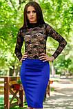 Яркая Трикотажная юбка  с пикантной  молнией сзади  42-60р, фото 2