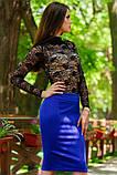 Яркая Трикотажная юбка  с пикантной  молнией сзади  42-60р, фото 3