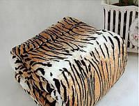 Микрофибровая простынь, покрывало Elway полуторное Шкура тигровая