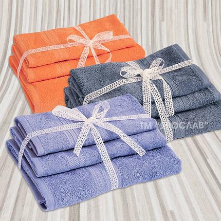 Набор махровых полотенец  гладкокрашенных ТМ Ярослав 3 шт, фото 2