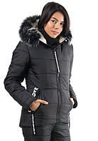 """Женская зимняя куртка """"Lovely"""". Черная."""