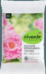 Очищающие салфетки для лица alverde NATURKOSMETIK Reinigungstücher Bio-Wildrose, 25 шт.