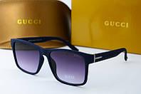 Солнцезащитные очки прямоугольные Gucci синие, фото 1