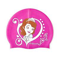 Детская силиконовая шапочка для плаванья Sofia the First (София прекрасная) на девочку ТМ ARDITEX WD8319