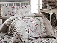 Комплект постельного белья First Choice Ranforce семейный Karen Kahve