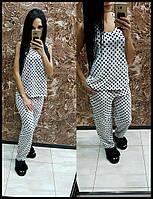 Женская стильная пижамка с разным принтом. Ткань: супер софт. Размер: см,мл,хл.
