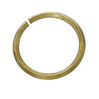Колечко, Разрезное, Круглое, Латунный цвет, 10 мм