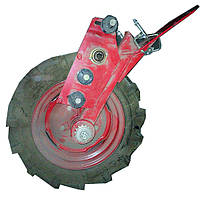 Колесо опорно-приводное ВЕСТА с шиной (левое) с кронштейном