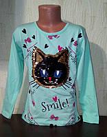 Туника для девочки,пайетки перевертыши, меняют цвет  128см УЦЕНКА , фото 1