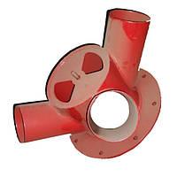 Раструб вентилятора (на 3 трубы) Веста