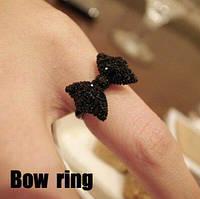 """Кольцо """"Бантик"""" Чёрный цвет"""