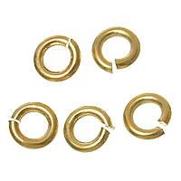 Колечко, Разрезное, Круглое, Золотое, Металлический сплав, 3 мм диаметр