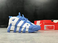 Женские кроссовки Nike Air More Uptempo University Blue, найк аир мор, реплика