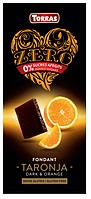 Черный шоколад без сахара Torras ZERO NEGRA TARONJA с апельсином Испания 125 г