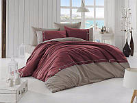 Комплект постельного белья First Choice Ranforce Deluxe Евро Raina Bordo