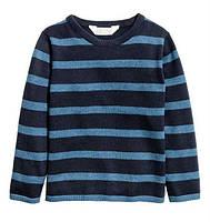 Детский свитер в синюю полоску Н&М для мальчика, 116 см.,128 см.,140 см.