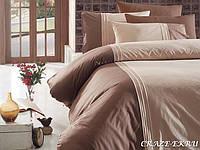 Комплект постельного белья First Choice Ranforce Deluxe семейный Craze Ekru
