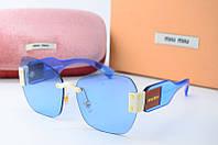 Солнцезащитные очки Миу Миу голубые, фото 1