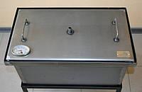 Коптильня черный металл 520х300х280 с термометром