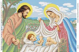 Схема для вышивки бисером Иисус в колыбели