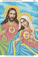 Схема для вышивки бисером Священные сердца Иисуса и Марии