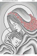 Схема для вышивки бисером Мадонна с Младенцем