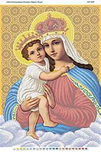Схема для вышивки бисером Богоматерь с младенцем