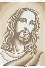 Схема для вышивки бисером Лик Иисуса Христа (золото)
