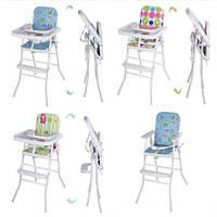Бемби HB 303 стульчик для кормления высокий Bambi складной