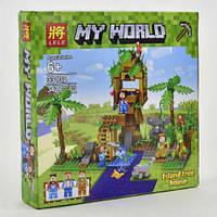 Конструктор лего Майнкрафт LELE Minecraft 33132 домик на дереве (Minecraft, Lego, Лего)